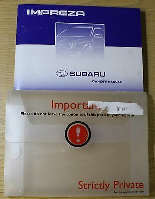 Subaru Impreza Owners Manual Handbook Wallet 2005-2007 Pack 2387