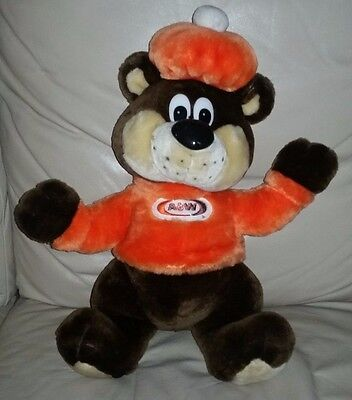 """A&W Plush Bear 1995 The Great Root Bear Rooty 16"""" Clean, RARE"""