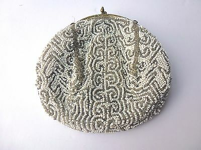 Vintage French Beaded Evening Bag. 1920's or 30's