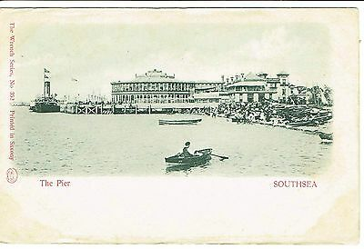 Southsea The Pier Undivided Back Publisher Wrench 1900's