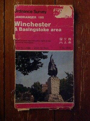 Ordnance Survey One Inch Map Of Winchester Sheet 185 1986