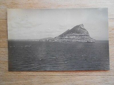 Postcard of Gibraltar? 1920s from navy warship collection - RP