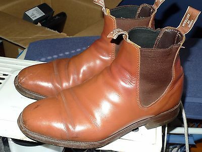 RM Williams Craftsman boots in brown, size 8.5H.