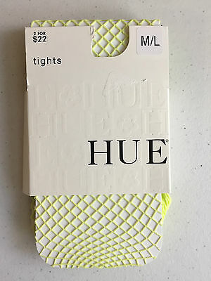 NEW Women's HUE Tights,  Lime Juice Fishnet Size M/L