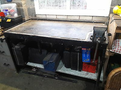 Steel Work Bench (Heavy Duty) with Vice **BARGAIN**