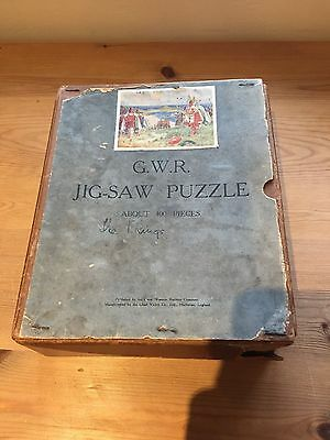 GWR Vintage Jigsaw Puzzle (The vikings landing at St Ives)