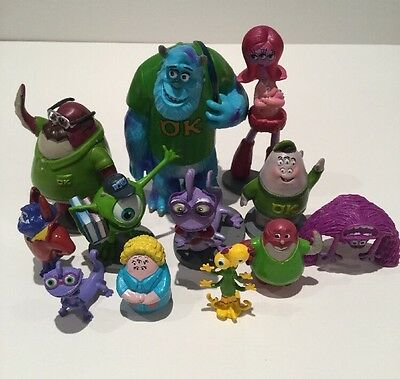 Disney Pixar Monsters Inc Hard Plastic Assorted Figures X12 Toys Cake Toppers