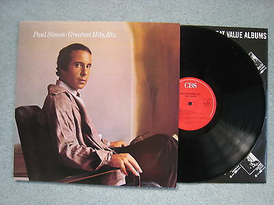 Paul Simon - Greatest Hits Etc.. 1986 compilation LP w/lyrics. EX/EX