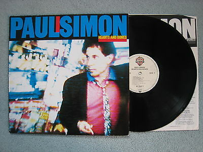 Paul Simon - Hearts and Bones. 1983 LP w/lyric inner. A3/B3. EX/EX