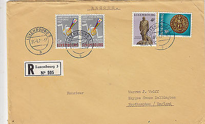 LUXEMBOURG 1974 (118s)  registered letter st. to ENGLAND