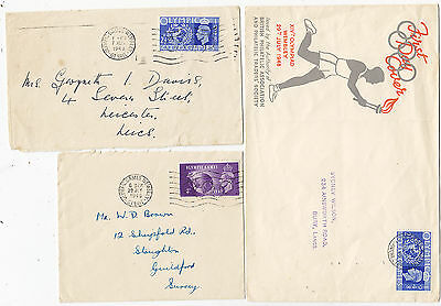 UK (GREAT BRITAIN) (123s) 1948 lot of 3 covers canc. OLYMPIC GAMES stamped