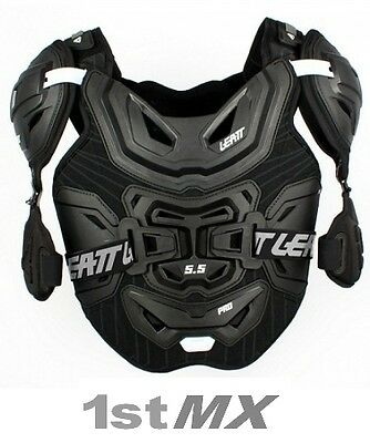 Leatt 5.5 Pro Chest Protector Body Armour Motocross Black Adult ONE SIZE