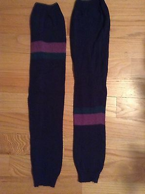 "Harmonie Dance wear Workout Women's Multi Strip 28""  Knit Legwarmers"