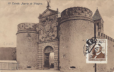 SPAIN(62s) 1951 postc. TOLEDO stamped to ITALY