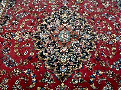8X11 1940's EXQUISITE MASTERPIECE 70+YRS ANTIQUE SIGNED WOOL MASHAD PERSIAN RUG