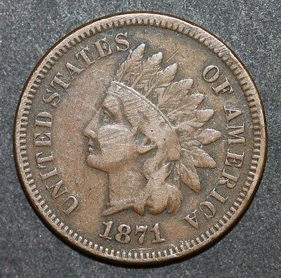 USA One Cent 1871 Coin