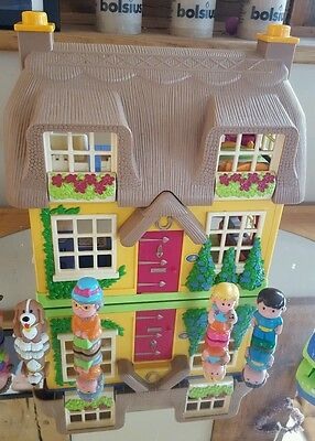 ELC Happyland vgc Rose Cottage with noise, people, dog and car