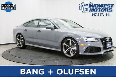 2014 Audi RS7  2014 Audi RS7 Nardo Gray Prestige Loaded Clean Carfax 1 Owner