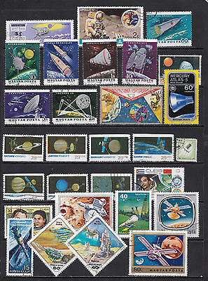 Thematics Space Stamps 3 SCANS (Sp07011c)