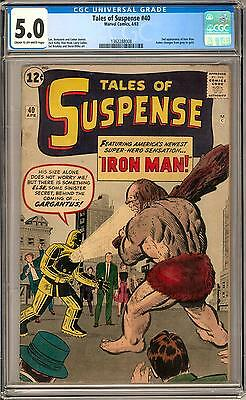 Tales of Suspense #40 CGC 5.0 (C-OW) 2nd appearance of Iron Man 1st Gold Armor