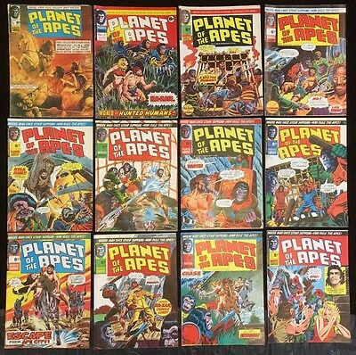 Planet of the Apes - Marvel 1974-1975 - 12 complete issues - Numbers #1 to #12