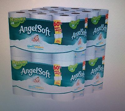 Angel Soft Toilet Paper Bathroom 48 Double Rolls Bath Tissue 12 Count 4Pack 2Ply