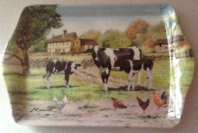 MacNeil The Farmyard Cow Small Melamine Scatter Snack Tray