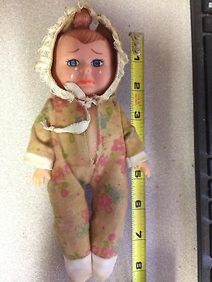 """Vintage 3 Face Baby Doll 8"""" Tall"""