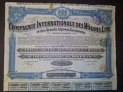 1   Cie International Wagons- Lits 1925, Actions + coupons