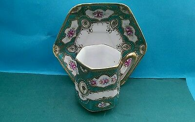 Good Quality Japanese Noritake Porcelain Demitasse Coffee Cup & Saucer