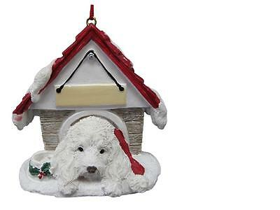 MALTIPOO Doghouse Ornament -- PERSONALIZED FREE!