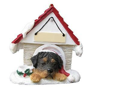 ROTTWEILER Doghouse Ornament -- PERSONALIZED FREE!