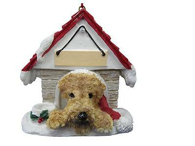 AIREDALE Doghouse Ornament -- PERSONALIZED FREE!!!!