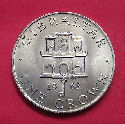1968 Gibraltar One Crown - low mintage 40,000