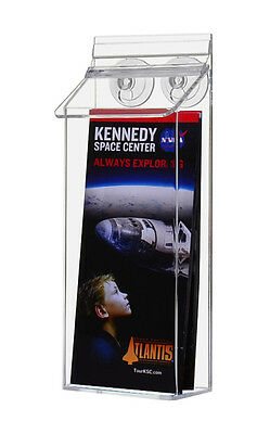 """Outdoor 4"""" x 9"""" Brochure Pamphlet Holder Display With Suction Cups"""