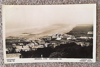 Old RP Postcard General View - WESTWARD HO - Lilywhite Posted 1931