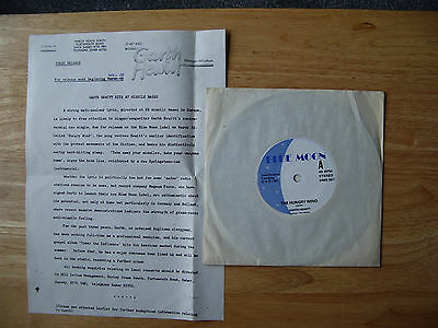 """GARTH HEWITT The Hungry Wind 1982 UK 7"""" with press release RARE"""