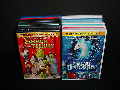 Lot of 10 Kids Children Family DVD Videos Movies Animated