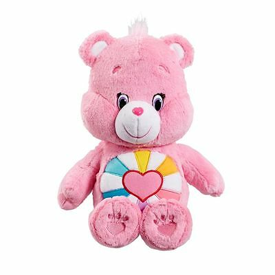 Care Bears Plush (Medium) with DVD - Hopefull Heart Bear - Brand New