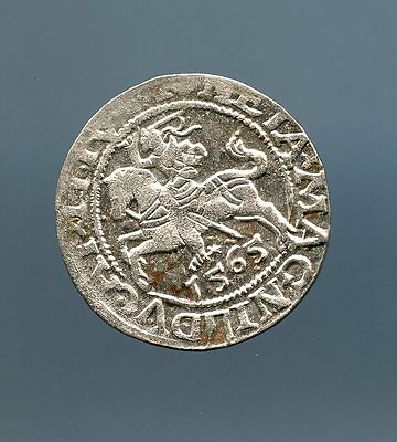 Lithuania  ~ 1565 ~ 1 Schilling ~ Silver ~ Xf