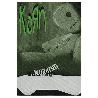 Korn authentic Working 2000 tour Backstage Pass