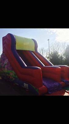 Airquee 2010 Circus Themed Mega Slide Bouncy Castle Inflatable 10ft Platform