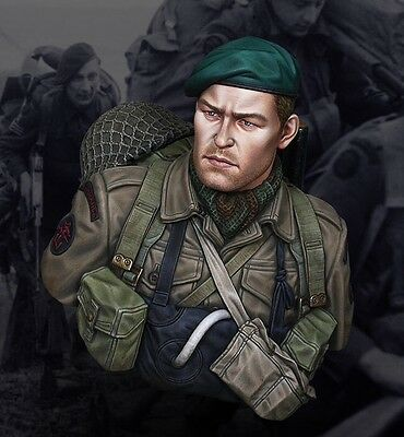 Life Miniatures 1/10th Bust in Resin of a Commando on D Day