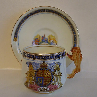 Paragon China Cup & Saucer To Commemorate The Coronation Of H.m.king Edward Viii