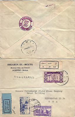 Syria - 1952 Registered Airmail Cover To U.s.a.