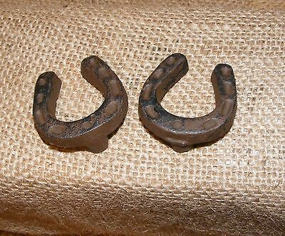 Horseshoe Cast Iron Brown Knob Cabinet Furniture Door Drawer Pull Handle #212