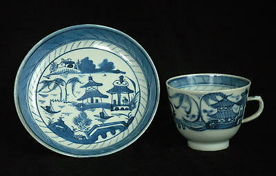 Antique Chinese Canton Porcelain Cup and Saucer