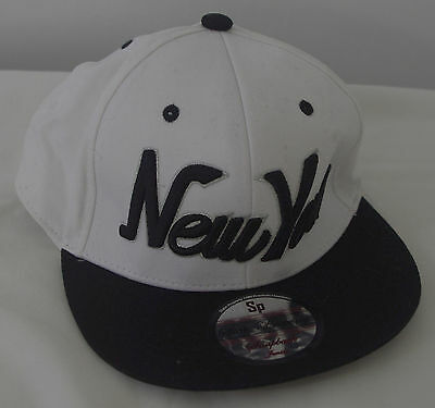 Teenager hat cap New York white with shield used once
