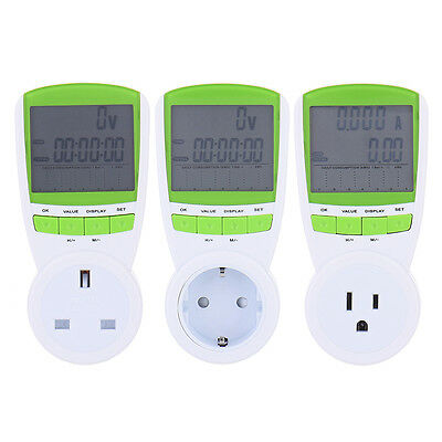 Plug-in Energy Power Counter Meter Voltage Measuring Outlet Plug Switch Socket