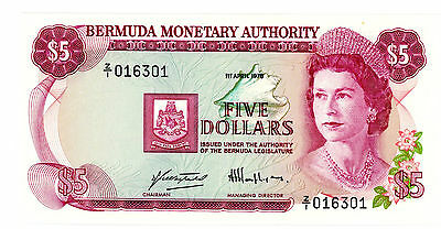 Bermuda … P-29a … 5 Dollars … 1978 … *UNC* ... Replacement.